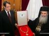 H.B. bestows the Holy Sepulchre medal on President Anastasiades