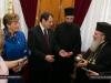 President Anastasiades offers the Patriarch a silver lekythos