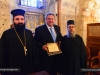 The Minister with Archimandrites Nikolaos and Polycarpos