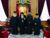 The Patriarch, the Archbishops of Nazareth and Constantina and the novice