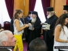 The Patriarch offers youth the New Testament in Arabic