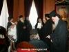 The Patriarch an icon of Theotokos as a gift