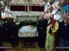 Hegoumen Nektarios and pilgrims in front of the Epitaph
