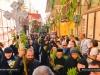 Nuns follow the procession in the Via Dolorosa