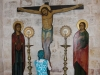 Icon of the Crucified on the site where the Holy Wood was planted