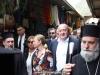 President Margvelasvili walks along the Christian Street