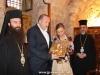 The Archbishop of Hierapolis offers the President an icon