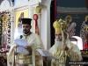 Father Constantinos translates the sermon
