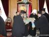 Archbishop Alexander delivers the icon