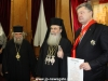His Excellency the President with the Patriarch and the Elder Secretary-General