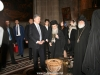 Mr Poroshenko at the katholikon of the Church of the Resurrection