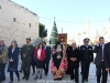 The Patriarch and officials arrive at the Basilica of the Nativity
