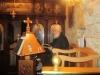 Novice Georgios sings in Vespers