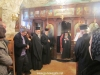 The Patriarch arrives during mass to venerate