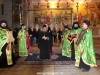 Fathers welcome the Patriarch at the Holy Apokathelosis