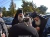 Archimandrite Christophoros welcomes the Patriarch