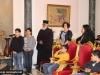 Students perform church hymns