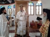 His Eminence and fathers Leontios and Ioustinos at the divine Liturgy