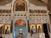 The iconostasis in the Church of the Prophet Elias, Haifa
