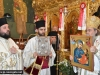 Father Theophilos offers an icon of Theotokos