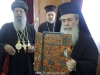 The Ethiopian Patriarch and Patriarch Theophilos exchange gifts