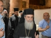 The Patriarch inspects restoration works on the Holy Aedicula