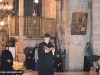 Novice Vasileios reads from the Apostles