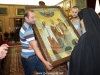 Offering the icon to His Beatitude