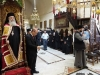Patriarch Theophilos leads the service at the Dormition of Theotokos Church