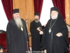 The Patriarchal Commissioner bestows an engolpion on the Metropolitan of Kalamaria