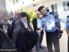 The Patriarch is welcomed by representatives of the Jordan Government