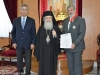 His Beatitude with Mr Lamprides and Mr Zacharoudiakis