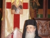 His Beatitude admires the church's historic banners
