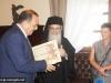 His Beatitude with Mayor Hatzidiakos and Professor Moropoulou
