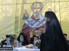 The head of St Nikolas Chapel addresses the Patriarch
