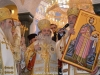 The Patriarch of Serbia offers an icon of St Igor