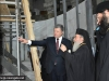 H.B. and Mr Poroshenko inspect restoration works on the Holy Aedicula