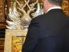 Mr Poroshenko venerates the Holy Cross in the Sacristan's Office