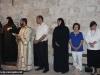 Nuns singing and pious pilgrims