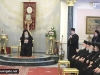 Fr Issah Mousleh reads the Patriarch's speech in Arabic