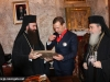 The Sacristan, Archbishop Isidoros, offers Mr Medvedev an icon of Theotokos