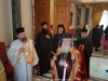 His Beatitude prays at the Throne Hall