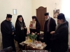 Fr. Makarios offering a reception for the Episcopal Entourage at the Hegoumeion