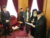"The Minister receives the ""Certificate of the Pilgrim of the Holy Land"""