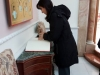 Mrs. Kountoura signing the Book of Visitors of the Patriarchate