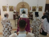 The Most Reverend Archbishop Makarios of Qatar at the Service of the Salutations