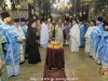 Reverend Archbishops and Priests in their liturgical vestments at the blessing of bread