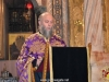The officiating Priest Archimandrite Nectarios at the Deposition Gospel