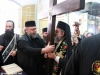 The Metropolitan taking up the Sacred Cross with Archimandrite Parthenios