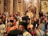 The Patriarchal Entourage exits the Catholicon, towards the H. Sepulchre
